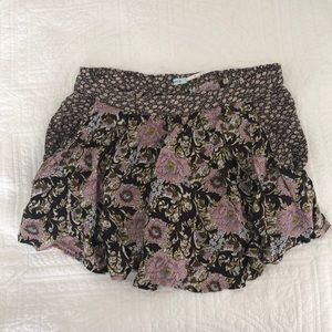 Urban Outfitters Floral Skort w Pockets